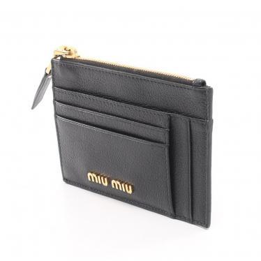 miu miu・財布・小物・マドラス コインケース カードケース レザー ブラック