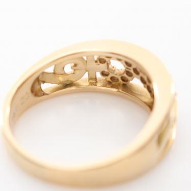 CELINE・アクセサリー・インフィニティ リング 指輪 K18YG ダイヤモンド イエローゴールド クリア