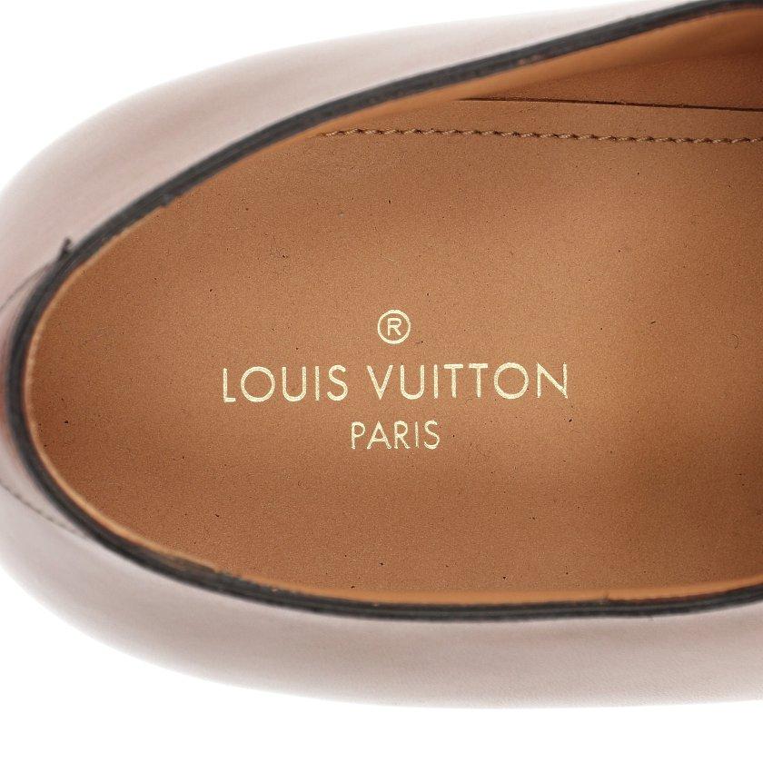 LOUIS VUITTON・シューズ・ビジネスシューズ ドレスシューズ レザー ブラウン Uチップ