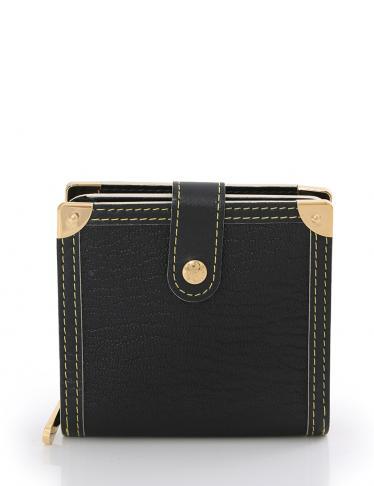 wholesale dealer d7cfe 7468d LOUIS VUITTON(ルイヴィトン)コンパクトジップ 二つ折り財布 スハリ 黒|中古ブランド通販のRECLO