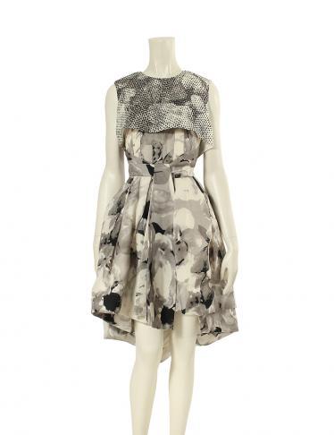 big sale 2b7e7 b3acf Christian Dior(クリスチャンディオール)ワンピース シルク マルチカラー|中古ブランド通販のRECLO