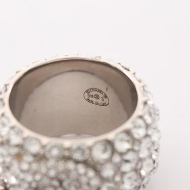 CHANEL・アクセサリー・ココマーク リング 指輪 ラインストーン シルバー クリア B18S