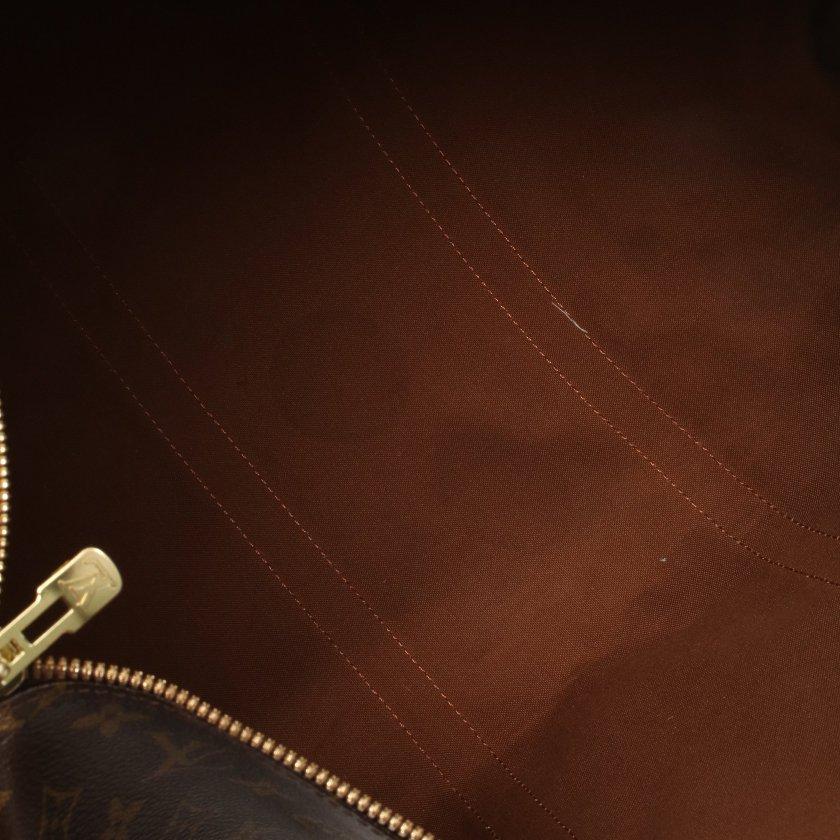 LOUIS VUITTON・バッグ・キーポル バンドリエール50 モノグラム ボストンバッグ PVC レザー ブラウン 2WAY