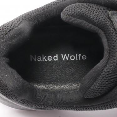 NAKED WOLFE・シューズ・TRACK トラック スニーカー スエード レザー ブラック プラットフォーム
