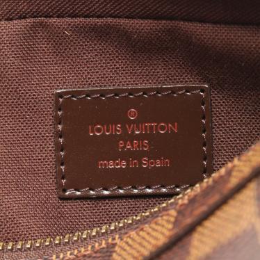 LOUIS VUITTON・バッグ・ジェロニモス ダミエエベヌ ボディバッグ ウエストバッグ PVC レザー ブラウン