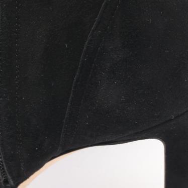 JIMMY CHOO・シューズ・MARIE 100 ニーハイブーツ ロングブーツ スエード ブラック サイドレースアップ
