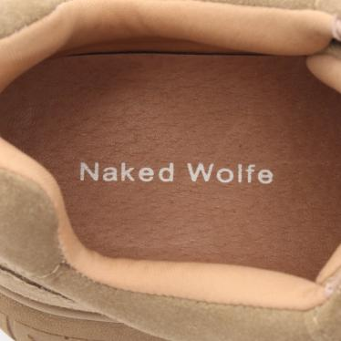 NAKED WOLFE・シューズ・SPORTY スポーティ スニーカー スエード カーキブラウン プラットフォーム