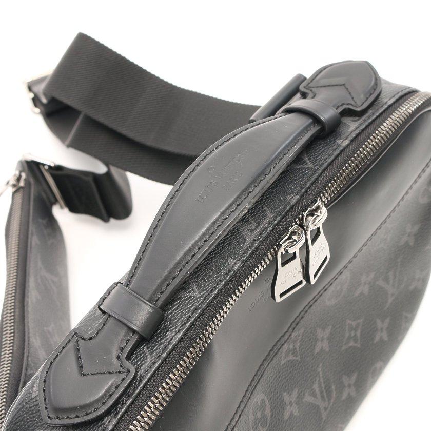 LOUIS VUITTON・バッグ・バムバッグ モノグラムエクリプス ボディバッグ ウエストバッグ PVC レザー ブラック 2WAY