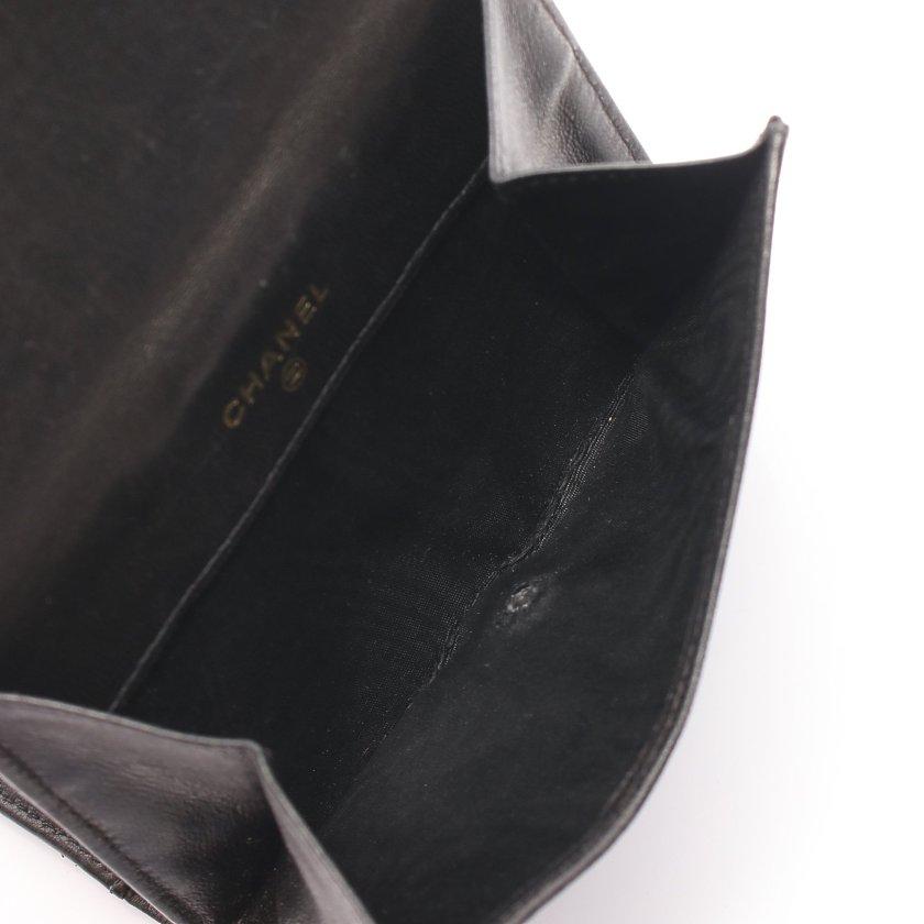 CHANEL・財布・小物・ココマーク Wホック財布 ラムスキン ブラック