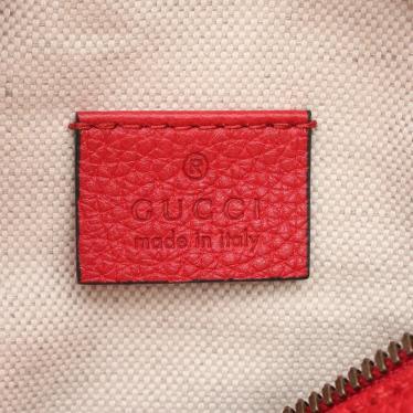 GUCCI・バッグ・ロゴプリント スモール ベルトバッグ ボディバッグ ウエストバッグ レザー レッド マルチカラー