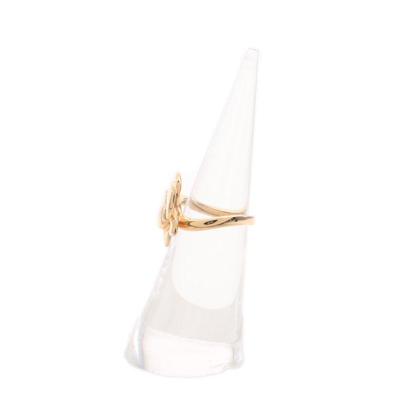 Cartier・アクセサリー・カレス ドルキデ パル リング 指輪 K18YG ダイヤモンド イエローゴールド フラワーモチーフ 1Pダイヤ
