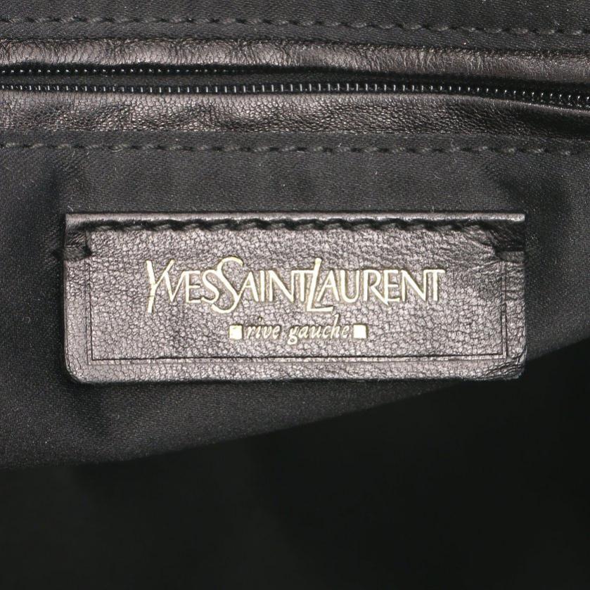 Yves Saint Laurent rive gauche・バッグ・ミューズ ハンドバッグ エナメルレザー ブラック