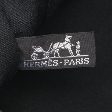 HERMES・バッグ・フールトゥMM トートバッグ キャンバス ブラック グレー