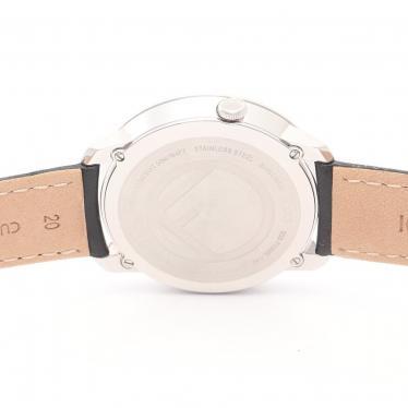FENDI・時計・ラナウェイ メンズ 腕時計 クオーツ SS レザー シルバー ブラック ブラック文字盤