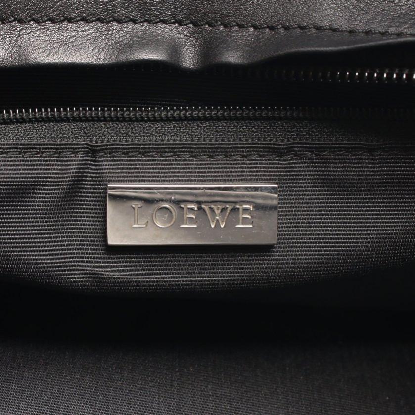 LOEWE・バッグ・アマソナ28 ハンドバッグ レザー ブラック
