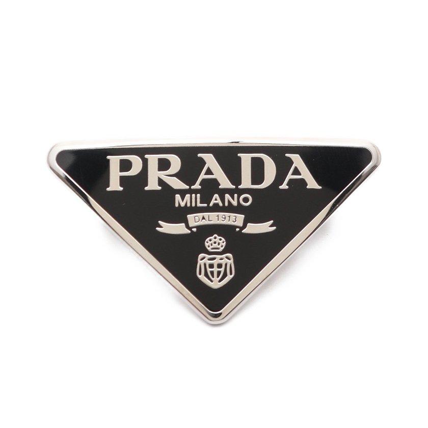 PRADA・アクセサリー・Metal hair clip バレッタ ブラック シルバー