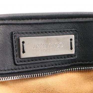 JIMMY CHOO・バッグ・トートバッグ ジップデザイン レザー ブラック