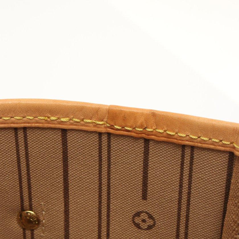 LOUIS VUITTON・バッグ・ネヴァーフルMM モノグラム トートバッグ PVC レザー ブラウン