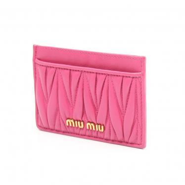 miu miu・財布・小物・MATELASSE マテラッセ カードケース 名刺入れ レザー ピンク