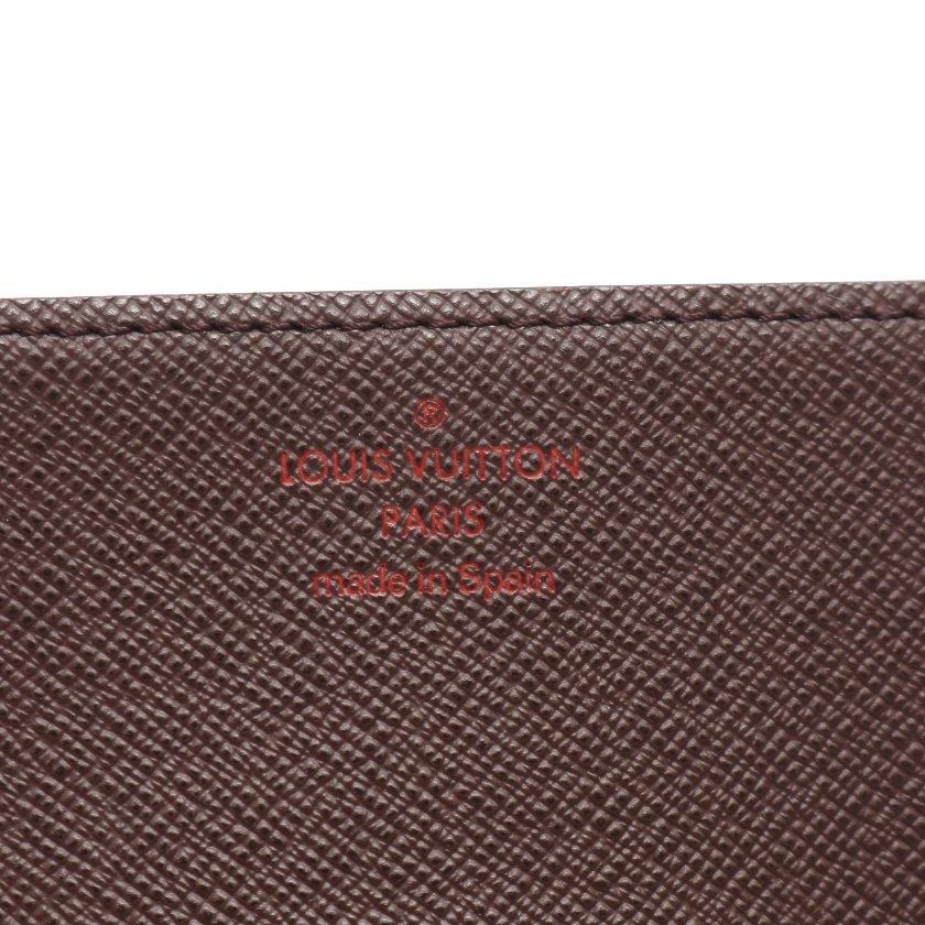 LOUIS VUITTON・財布・小物・アンヴェロップ カルト ドゥ ヴィジット ダミエエベヌ カードケース 名刺入れ PVC レザー ブラウン