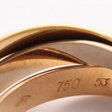 Cartier・アクセサリー・トリニティ リング 指輪 K18YG K18PG K18WG スリーカラー