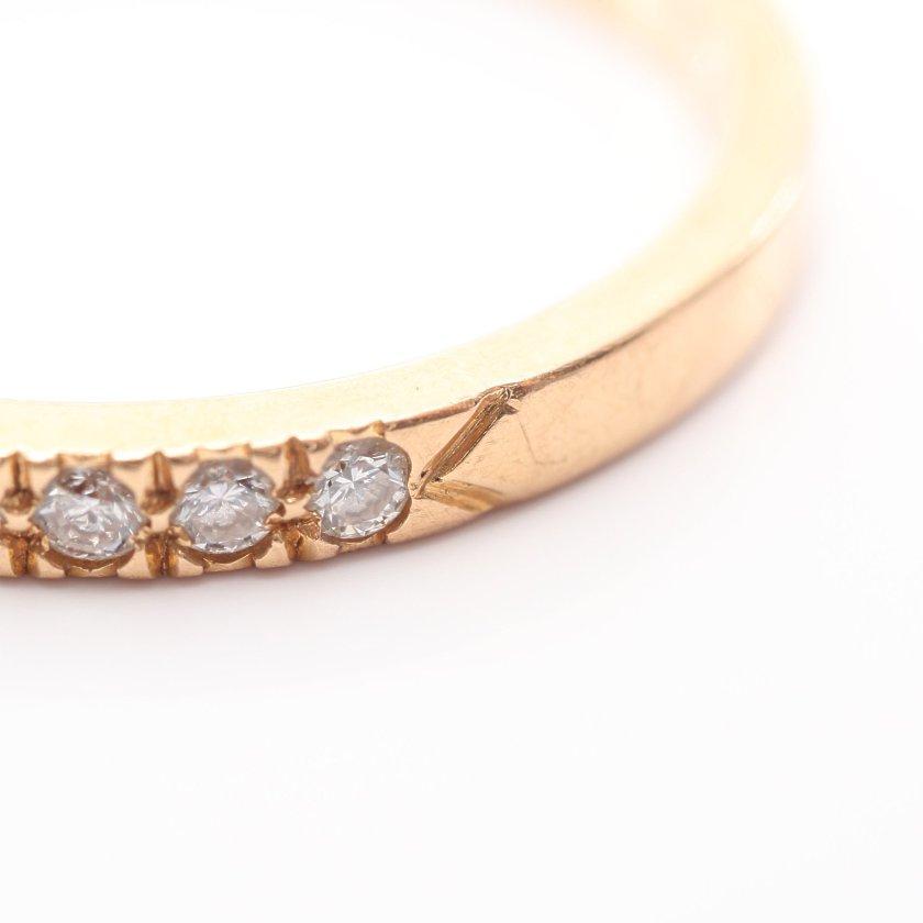 TIFFANY & Co.・アクセサリー・ノヴォ ハーフサークル リング 指輪 K18PG ダイヤモンド ピンクゴールド