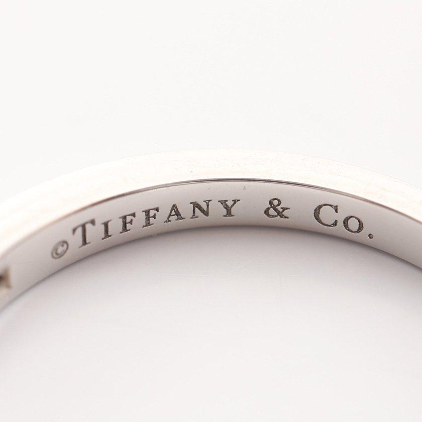 TIFFANY & Co.・アクセサリー・ハーフエタニティ ウェディング バンド リング 指輪 Pt950 ダイヤモンド プラチナ クリア 17Pダイヤ チャネルセット
