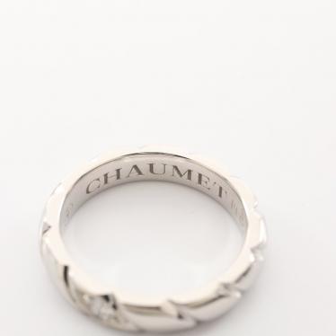 CHAUMET・アクセサリー・トルサード リング 指輪 Pt950 ダイヤモンド プラチナ 1Pダイヤ