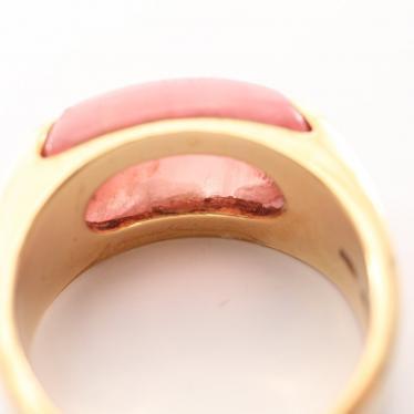 BVLGARI・アクセサリー・トロンケット リング 指輪 K18YG トルマリン イエローゴールド ピンク