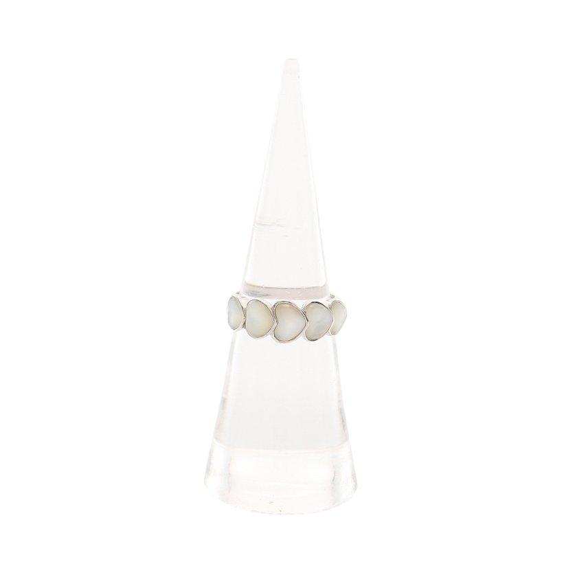 Ponte Vecchio・アクセサリー・リング 指輪 ハート K18WG シェル ホワイトゴールド