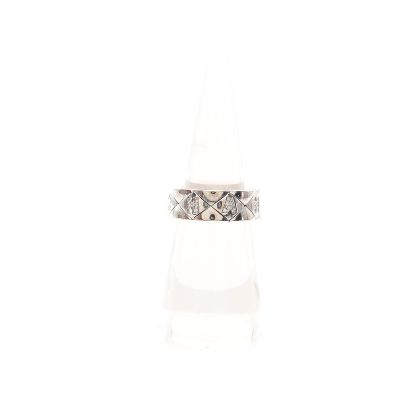 CHANEL・アクセサリー・マトラッセ リング 指輪 K18WG ダイヤモンド ホワイトゴールド