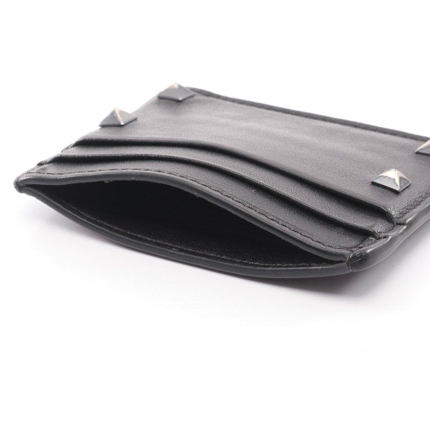 VALENTINO GARAVANI・財布・小物・ロックスタッズ カードケース パスケース レザー ブラック