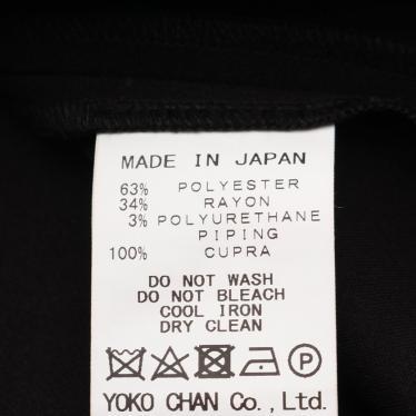 YOKOCHAN・トップス・Back Box Pleat Blouse ブラウス ブラック