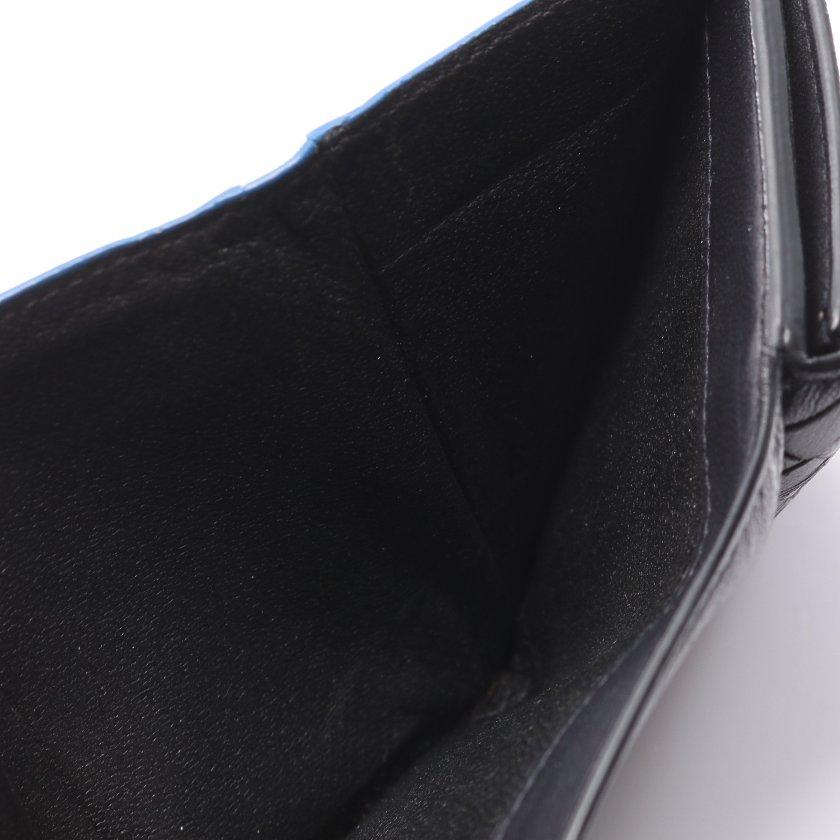 BOTTEGA VENETA・財布・小物・イントレチャート 三つ折り財布 ラムレザー ブラック