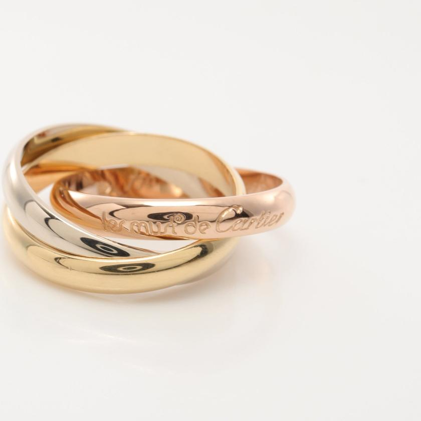 Cartier・アクセサリー・トリニティ リング 指輪 K18YG K18PGK18WG イエローゴールド ピンクゴールド ホワイトゴールド スリーカラー