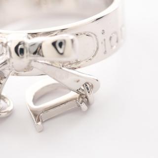 Christian Dior・アクセサリー・ リング 指輪 シルバー リボン CDロゴ