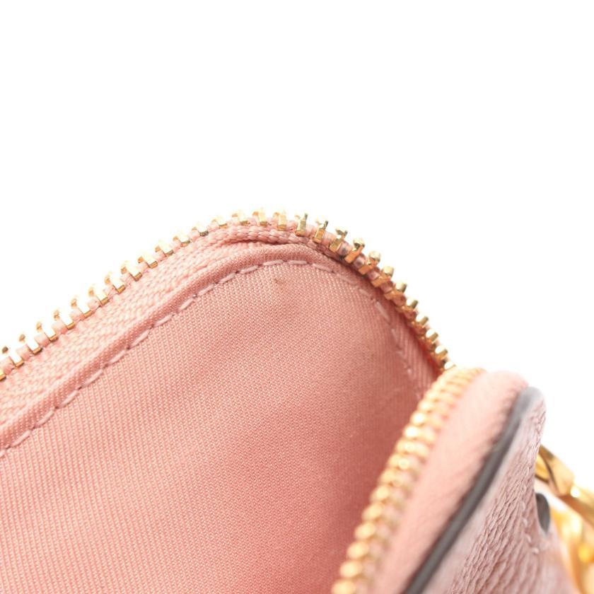 TORY BURCH・財布・小物・ペリー ボンベ トップジップ カードケース コインケース レザー ピンク
