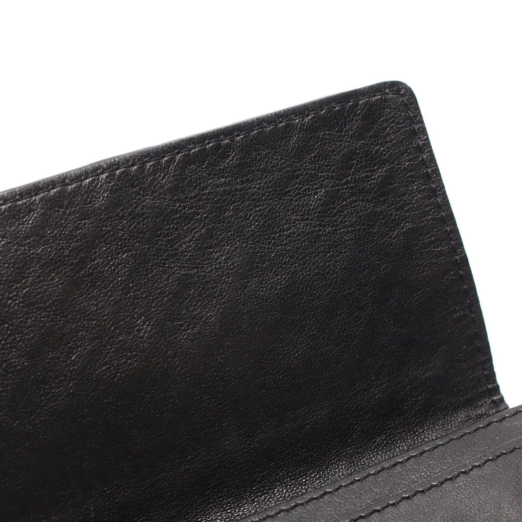 BOTTEGA VENETA・財布・小物・イントレチャート カードケース 名刺入れ レザー ブラック