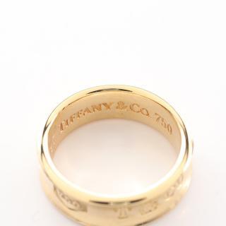 TIFFANY & Co.・アクセサリー・1837 ナローリング リング 指輪 K18YG イエローゴールド