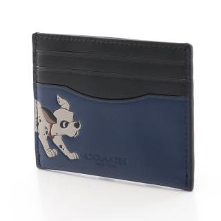 COACH・財布・小物・COACH × DISNEY ダルメシアン カードケース レザー ネイビー ブラック マルチカラー