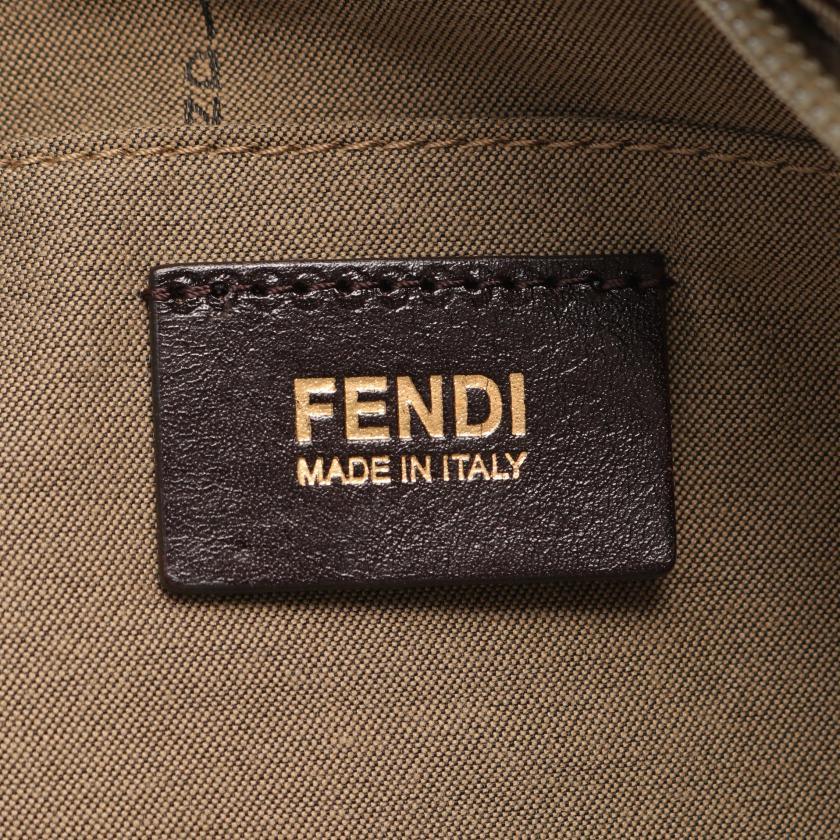FENDI・バッグ・ズッキーノ トートバッグ キャンバス レザー ベージュ ブラウン アイボリー
