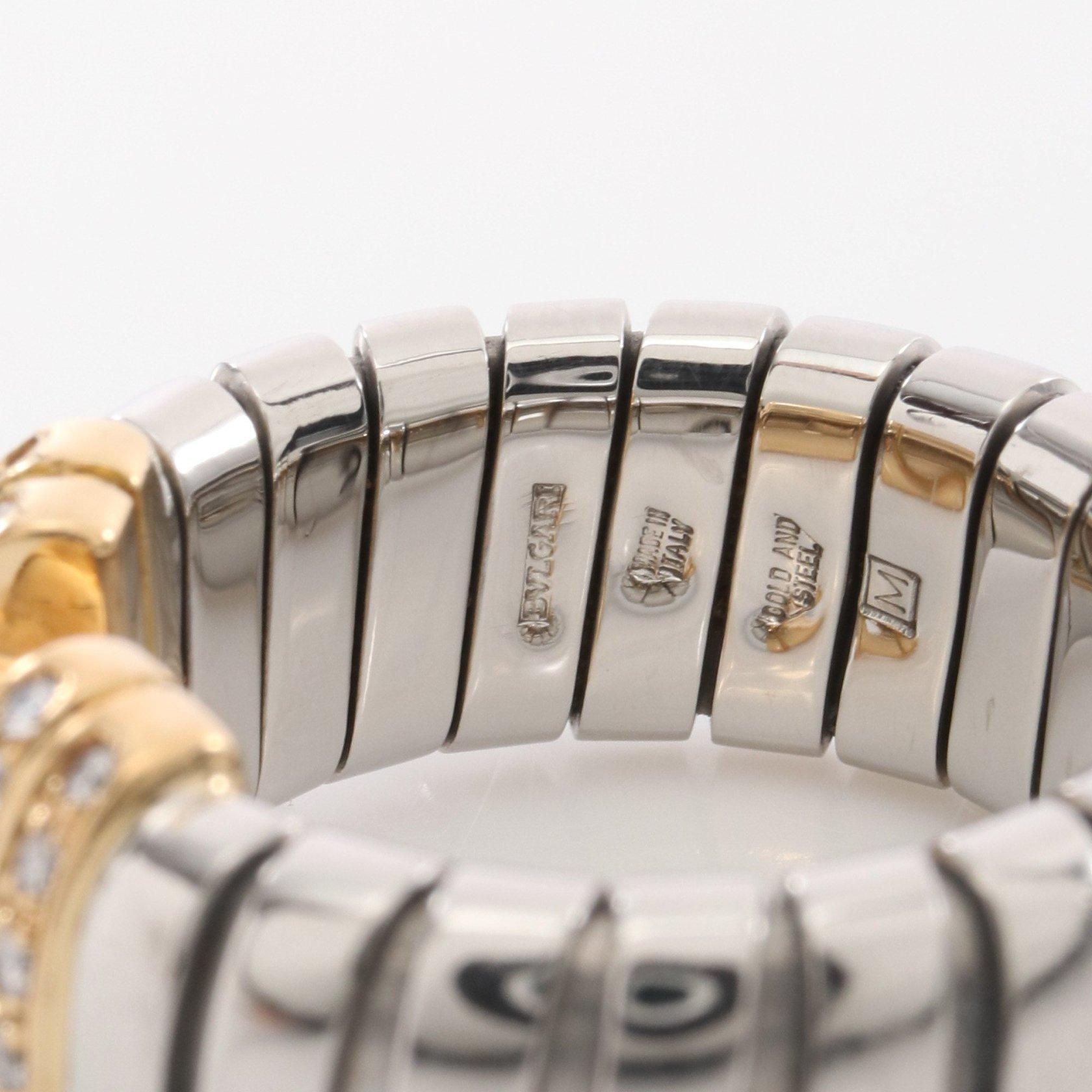 BVLGARI・アクセサリー・パレンテシ トゥボガス リング 指輪 K18YG SS ダイヤモンド イエローゴールド シルバー