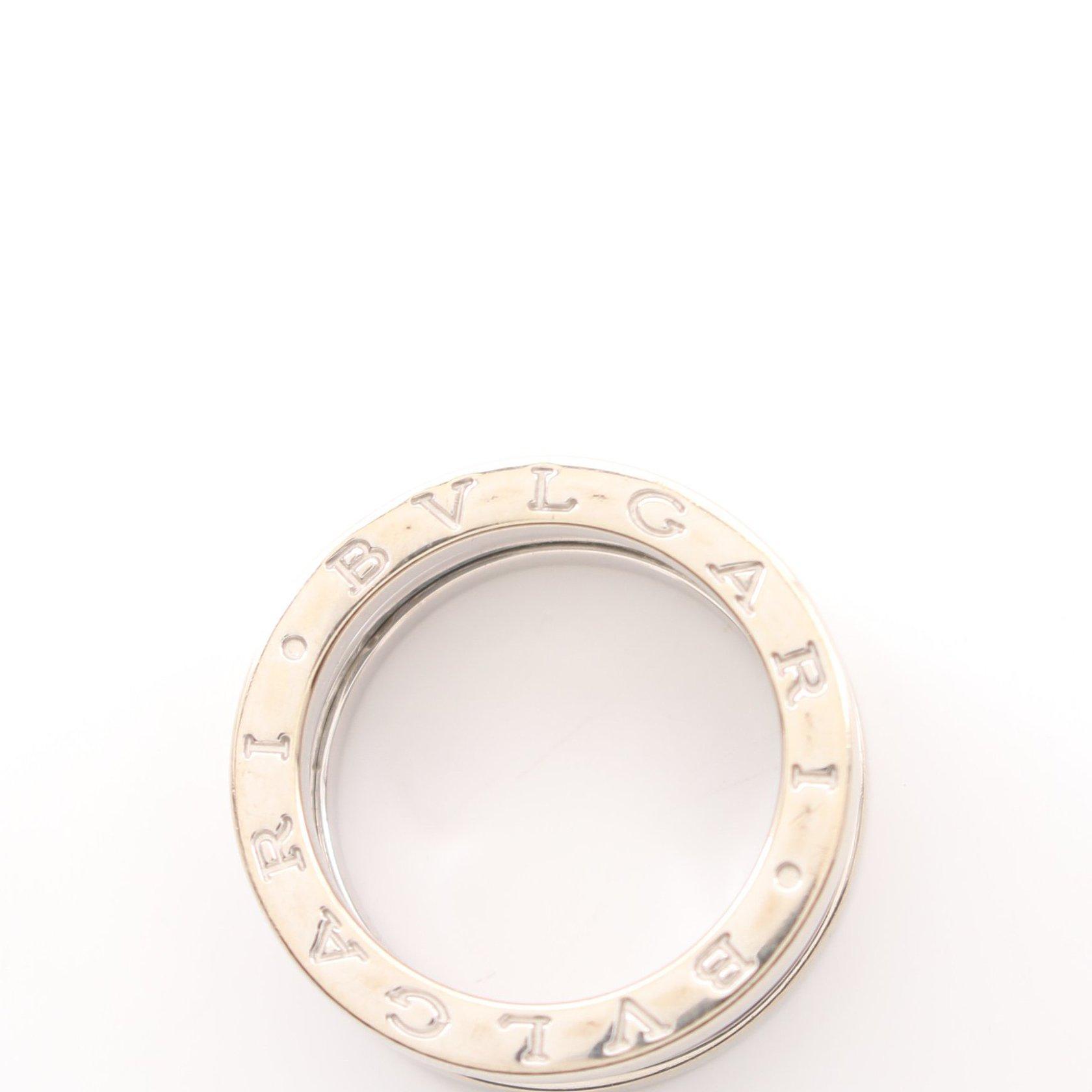 BVLGARI・アクセサリー・B-ZERO1 ビーゼロワン 3バンド リング 指輪 K18WG ホワイトゴールド