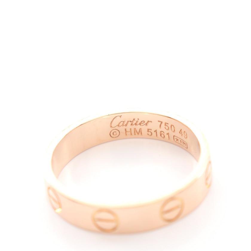 Cartier・アクセサリー・ミニラブ リング 指輪 K18PG ピンクゴールド