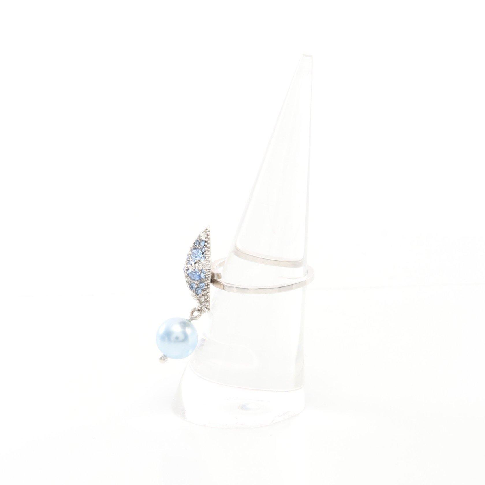 miu miu・アクセサリー・リング 指輪 SV925 カラーストーン シルバー ライトブルー スター