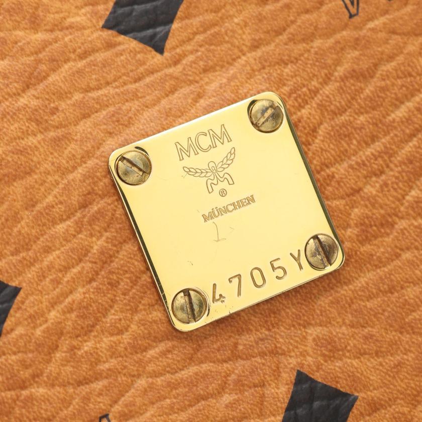 MCM・バッグ・ヴィセトス クラッチバッグ PVC レザー ライトブラウン