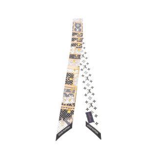 LOUIS VUITTON・財布・小物・バンドー BB レッツ ゴー ノワール リボン スカーフ シルク ブラック マルチカラー