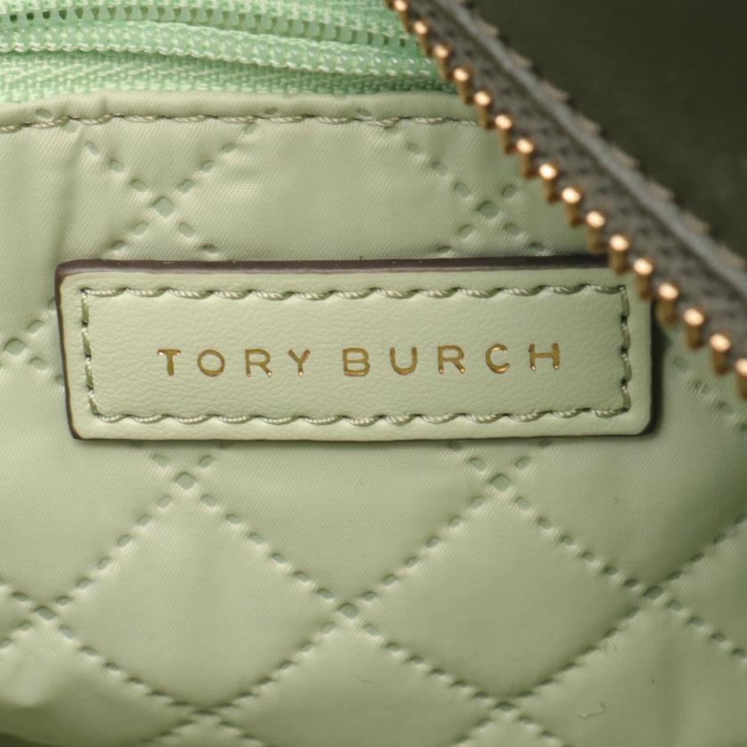 TORY BURCH・バッグ・トートバッグ ナイロン レザー カーキグリーン マルチカラー 2WAY