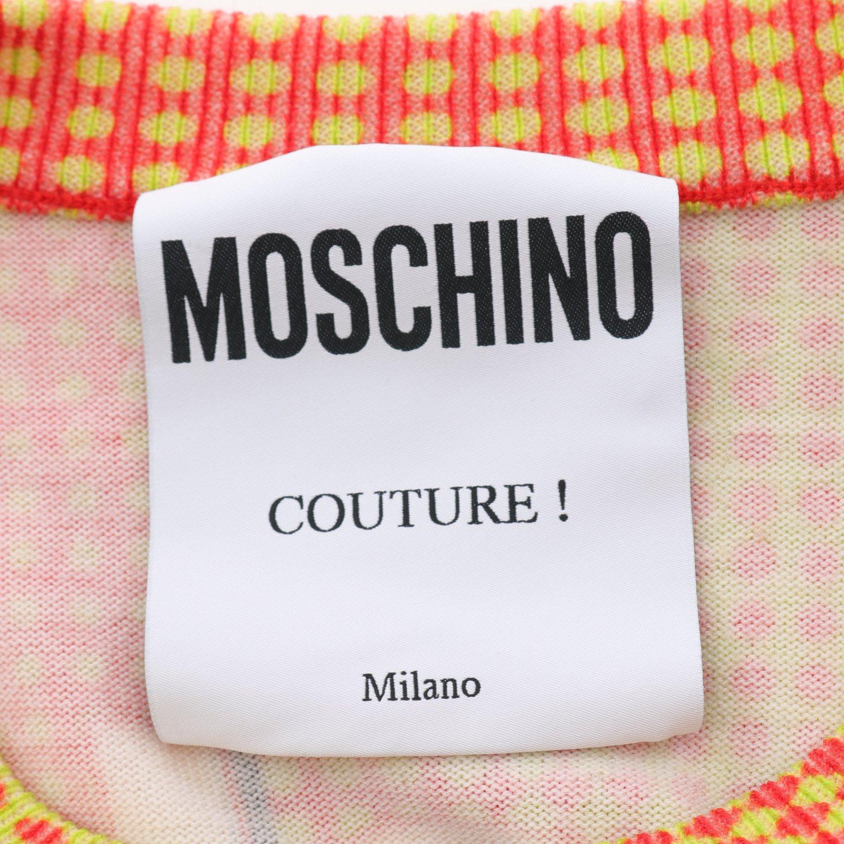 MOSCHINO・トップス・ ニット 総柄 ウール マルチカラー