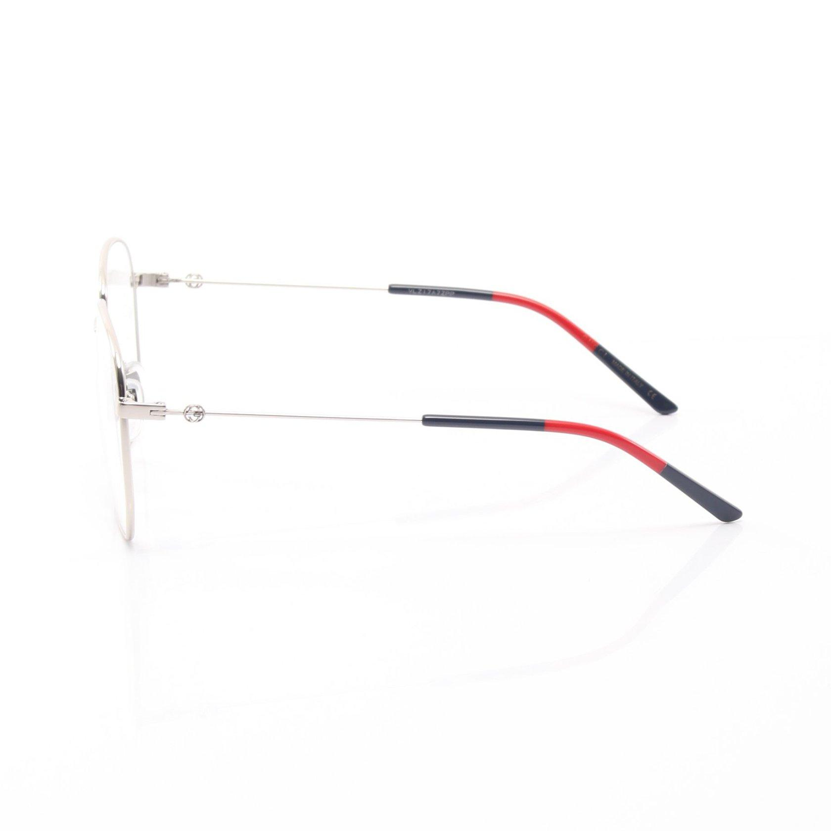 GUCCI・財布・小物・スクエアフレーム メタル サングラス メガネ 眼鏡 シルバー ネイビー レッド